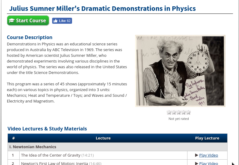 Physics Demonstration Videos | 0space org